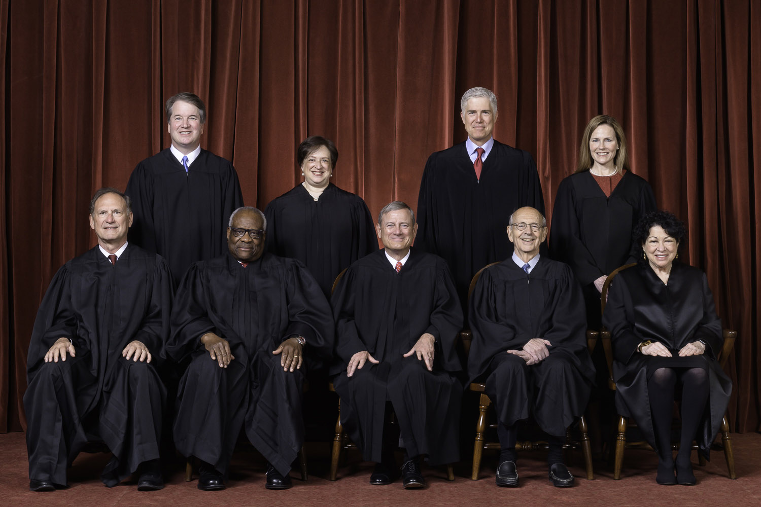 The Supreme Court as composed October 27, 2020 to present