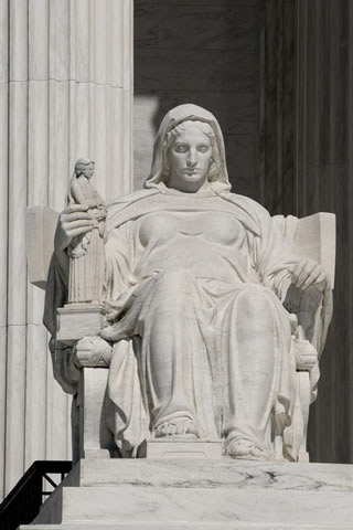 statue in front of supreme court