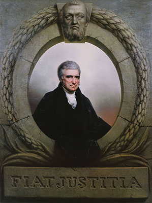 Portrait of Chief Justice John Marshall by Rembrandt Peale, 1834