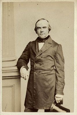 Benjamin R. Curtis was appointed to the Supreme Court by President Millard Fillmore in 1851 and served until his resignation in 1857. Photograph by John Adams Whipple, c. 1861.