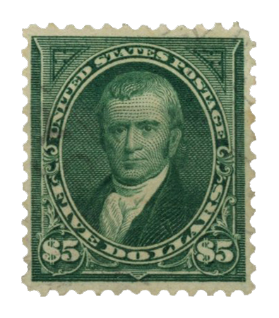 Chief Justice John Marshall $5 postage stamp issued on December 10, 1894..
