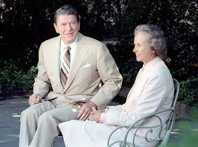 President Ronald Reagan and Judge Sandra Day O'Connor at the White House on July 15, 1981.
