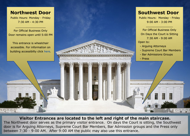 Northwest Door & Visitor Services Accessibility - Supreme Court of the United States