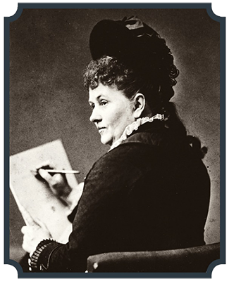 Portrait of Cornelia Adèle Fassett by Mathew Brady.